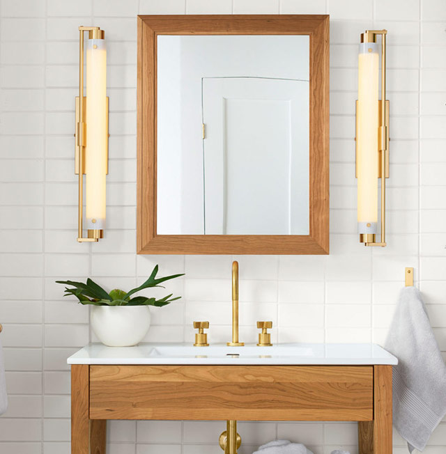 Your guide to bathroom lighting damp rated lights are ideal above sinks or as the main overhead light in a full bath whereas a wet rated fixture is needed for lights above a bathtub or aloadofball Image collections