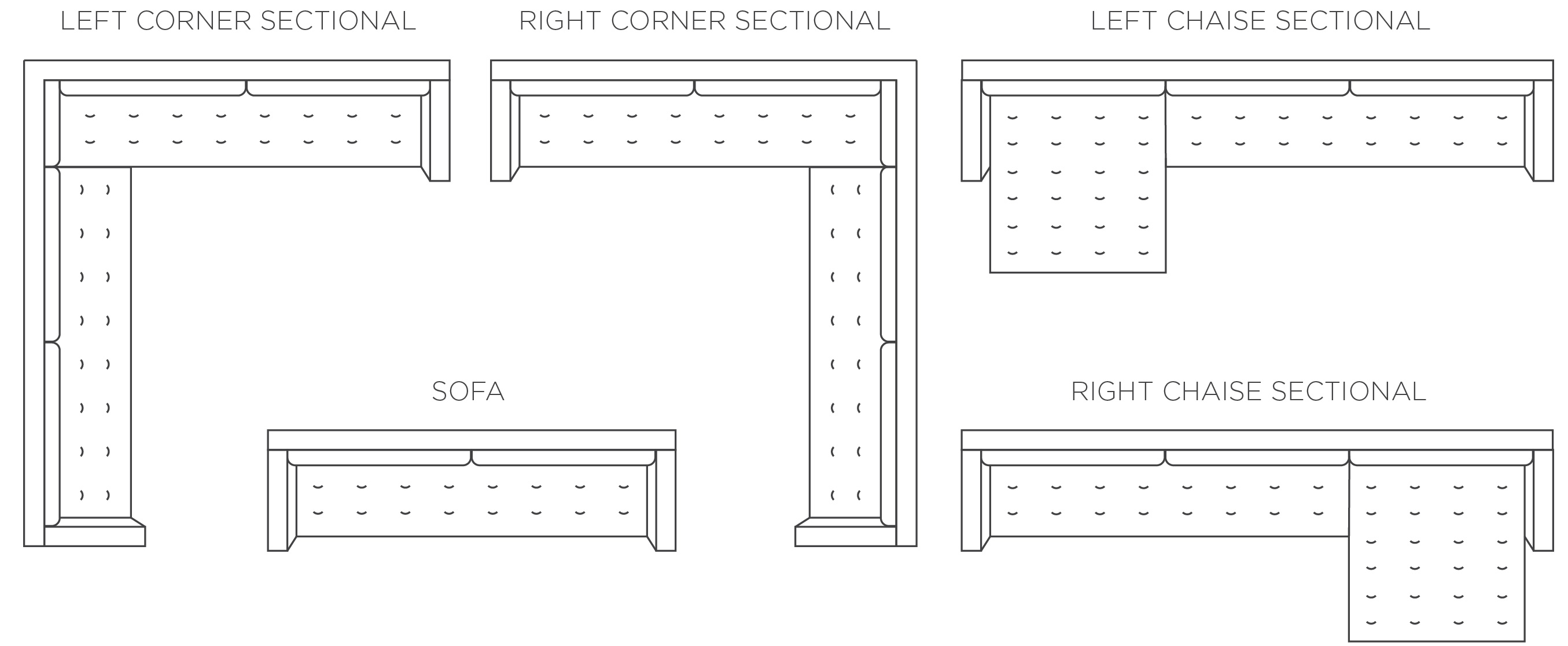 Choose Your Sectional Or Sofa Type